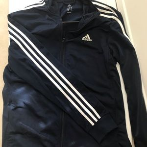 Adidas Navy Track Jacket with White Stripes